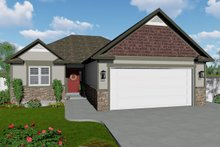 Ranch Exterior - Front Elevation Plan #1060-42