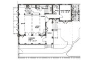 Beach Style House Plan - 3 Beds 4 Baths 2590 Sq/Ft Plan #536-5 Floor Plan - Main Floor Plan