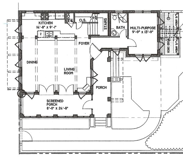 Beach Floor Plan - Main Floor Plan Plan #536-5