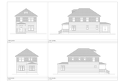 Craftsman Style House Plan - 4 Beds 3 Baths 1824 Sq/Ft Plan #461-60 Exterior - Other Elevation