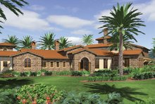 Dream House Plan - Mediterranean Exterior - Front Elevation Plan #48-361