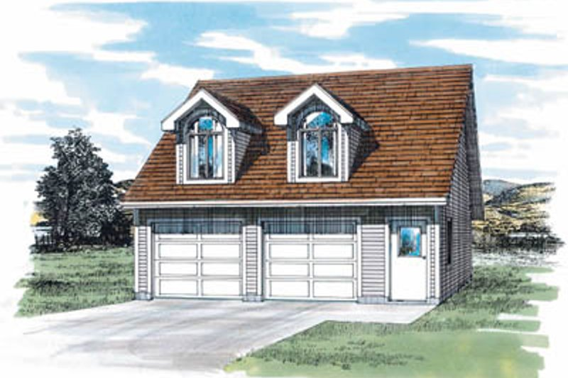 Country Exterior - Front Elevation Plan #47-511