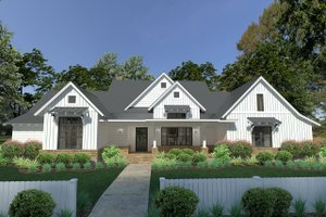 Farmhouse Exterior - Front Elevation Plan #120-253