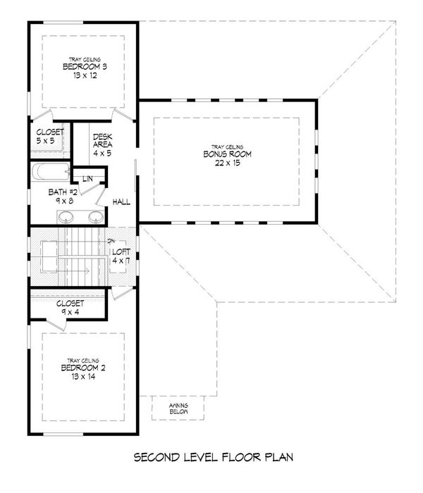 Dream House Plan - Contemporary Floor Plan - Upper Floor Plan #932-172