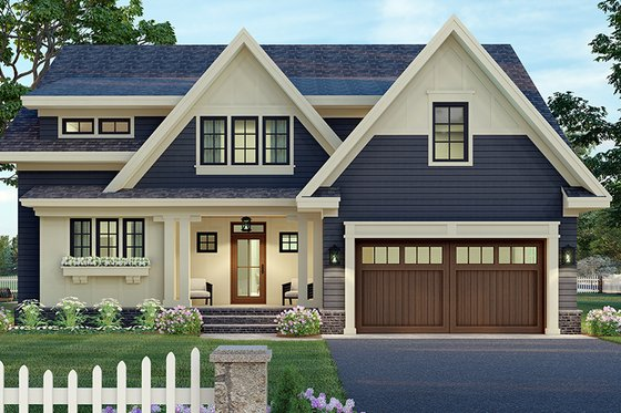 Craftsman Exterior - Front Elevation Plan #51-1173