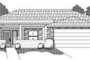 Adobe / Southwestern Style House Plan - 3 Beds 2.5 Baths 2352 Sq/Ft Plan #24-212 Exterior - Front Elevation