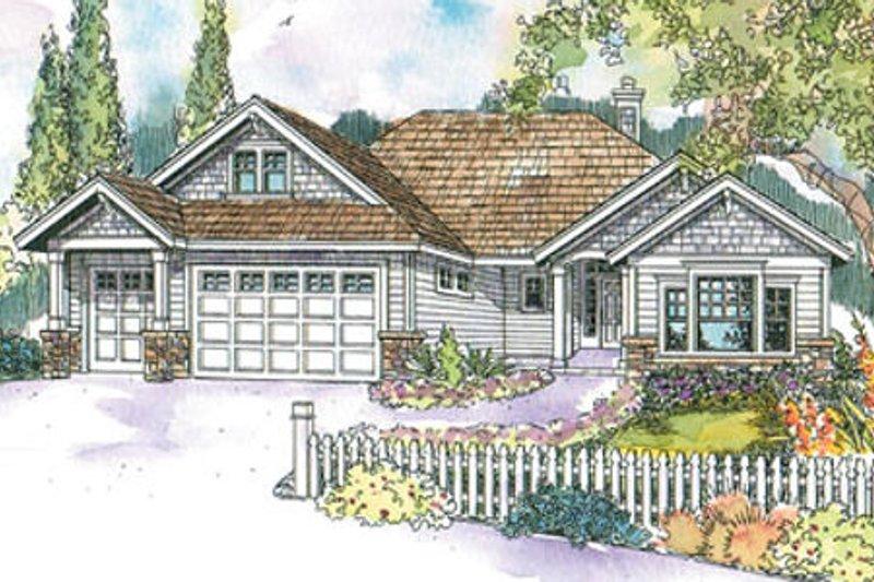 Architectural House Design - Craftsman Exterior - Front Elevation Plan #124-552