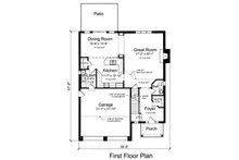 Traditional Floor Plan - Main Floor Plan Plan #46-493