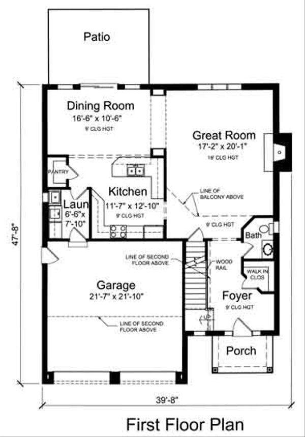 Traditional Floor Plan - Main Floor Plan Plan #46-493
