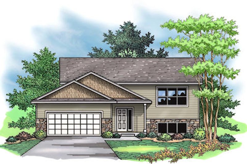 Traditional Exterior - Front Elevation Plan #51-377 - Houseplans.com