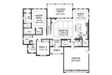 Ranch Floor Plan - Main Floor Plan Plan #1010-207