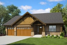 Home Plan - Ranch Exterior - Front Elevation Plan #48-947