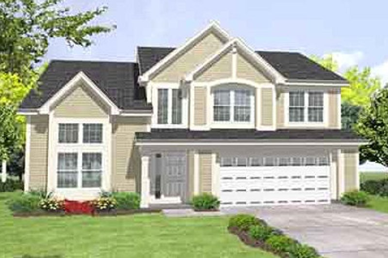 Farmhouse Style House Plan - 4 Beds 2.5 Baths 2297 Sq/Ft Plan #50-246 Exterior - Front Elevation