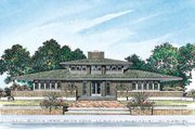 Prairie Style House Plan - 5 Beds 3.5 Baths 3278 Sq/Ft Plan #72-179 Exterior - Rear Elevation
