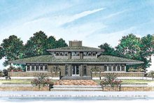 Home Plan - Prairie Exterior - Rear Elevation Plan #72-179