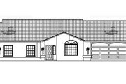 Ranch Style House Plan - 5 Beds 3.5 Baths 2505 Sq/Ft Plan #1-591 Exterior - Other Elevation
