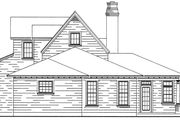 Bungalow Style House Plan - 3 Beds 2.5 Baths 2087 Sq/Ft Plan #410-241 Exterior - Rear Elevation