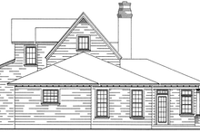 Dream House Plan - Bungalow Exterior - Rear Elevation Plan #410-241