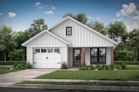 Dream House Plan - Farmhouse Exterior - Front Elevation Plan #430-206