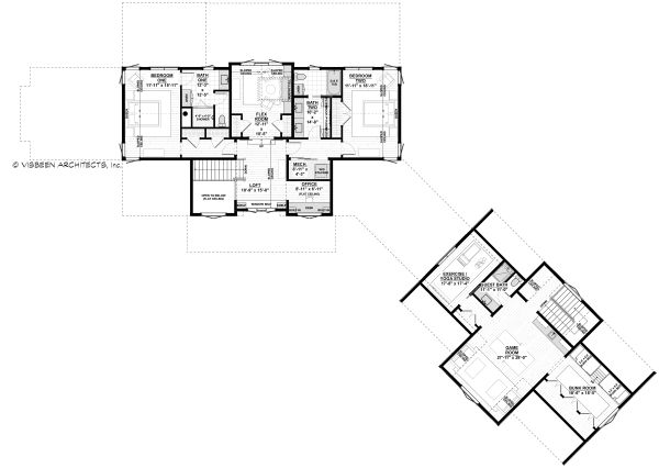 Farmhouse Floor Plan - Upper Floor Plan Plan #928-341