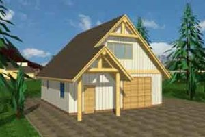 Architectural House Design - Traditional Exterior - Front Elevation Plan #117-250