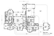 European Style House Plan - 4 Beds 4.5 Baths 4338 Sq/Ft Plan #310-1309 Floor Plan - Main Floor