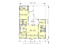 Southern Floor Plan - Main Floor Plan Plan #44-141