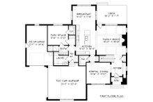 Tudor Floor Plan - Main Floor Plan Plan #413-889