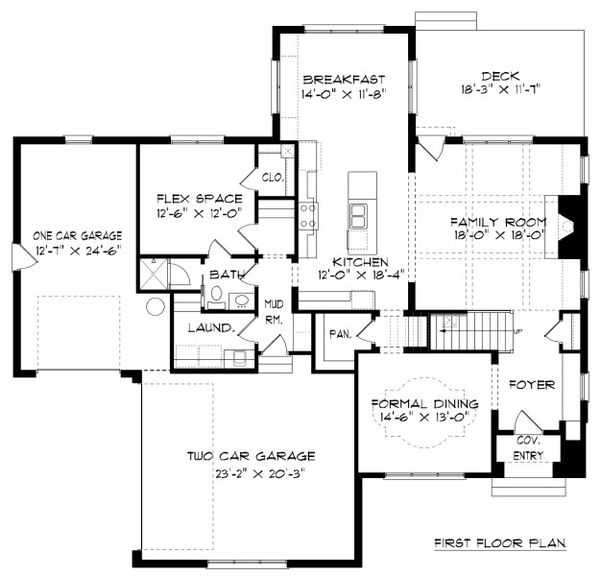 Tudor Floor Plan - Main Floor Plan Plan #413-889