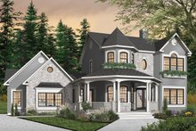 Home Plan - Victorian Exterior - Front Elevation Plan #23-749