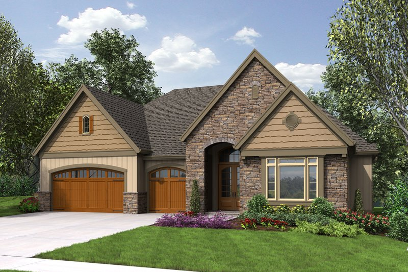Craftsman Exterior - Front Elevation Plan #48-658