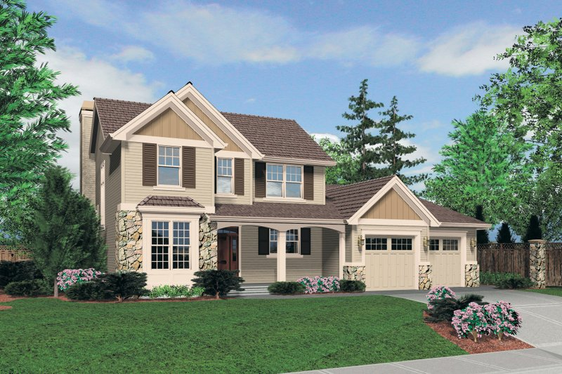 Traditional Exterior - Front Elevation Plan #48-634 - Houseplans.com