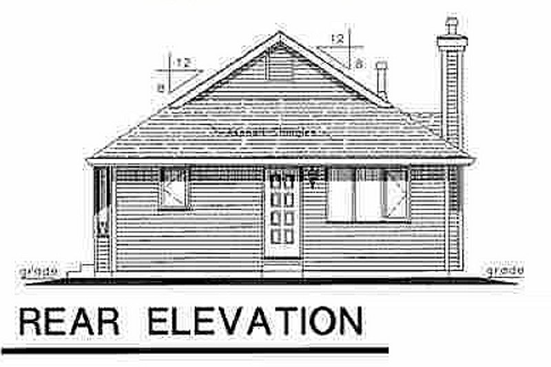 Cottage Exterior - Rear Elevation Plan #18-1038 - Houseplans.com