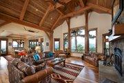 Log Style House Plan - 3 Beds 3.5 Baths 4100 Sq/Ft Plan #942-43