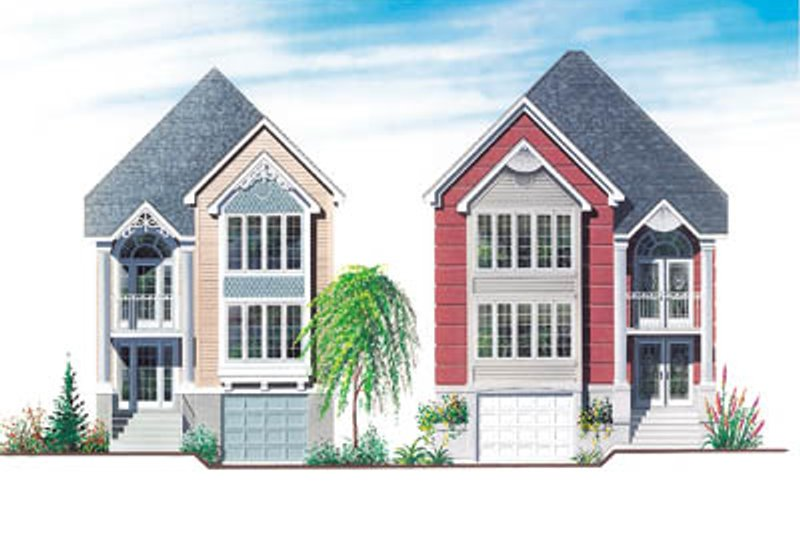 Traditional Style House Plan - 3 Beds 2 Baths 1526 Sq/Ft Plan #23-2004 Exterior - Front Elevation