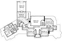European Floor Plan - Upper Floor Plan Plan #453-46