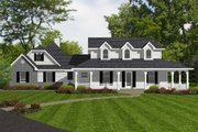 European Style House Plan - 4 Beds 3.5 Baths 3440 Sq/Ft Plan #14-255 Exterior - Front Elevation