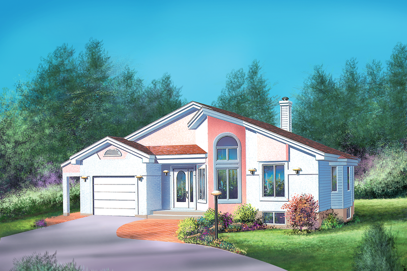 House Plan - 2 Beds 1 Baths 1130 Sq/Ft Plan #25-1097 Exterior - Front Elevation