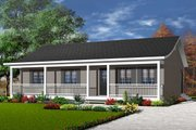 Ranch Style House Plan - 3 Beds 1 Baths 1127 Sq/Ft Plan #23-857