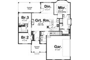 Traditional Style House Plan - 3 Beds 2 Baths 1537 Sq/Ft Plan #455-229 Floor Plan - Main Floor Plan