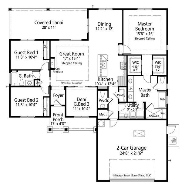 House Plan Design - Craftsman Floor Plan - Main Floor Plan #938-95