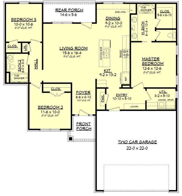 House Plan Design - Traditional Floor Plan - Main Floor Plan #430-134