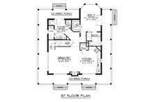 Craftsman Floor Plan - Main Floor Plan Plan #1064-15