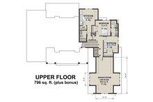 Farmhouse Floor Plan - Upper Floor Plan Plan #51-1130