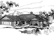 Ranch Style House Plan - 3 Beds 2 Baths 1902 Sq/Ft Plan #60-137 Exterior - Front Elevation