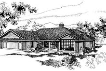 Home Plan Design - Ranch Exterior - Front Elevation Plan #60-137