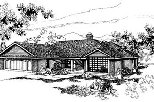 Ranch Exterior - Front Elevation Plan #60-137