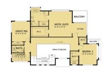 Contemporary Floor Plan - Upper Floor Plan Plan #1066-44