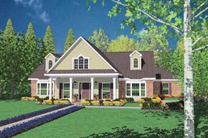 Dream House Plan - Traditional Exterior - Front Elevation Plan #36-218