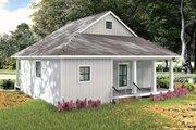 Farmhouse Style House Plan - 2 Beds 1 Baths 890 Sq/Ft Plan #44-222 Exterior - Rear Elevation